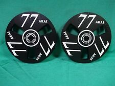 2 x Schwarz  Alu Spulen 18cm für AKAI GX-77