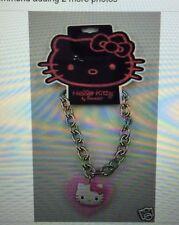 Hello Kitty Pink dangle bracelet heart shaped