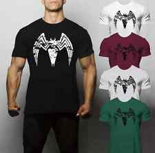 Venom T Shirt Spiderman Logo Superhero Gym Workout Training Muscle Muhammed Ali