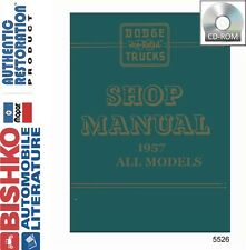 1957 Dodge Truck Pickup Shop Service Repair Manual CD Engine Drivetrain Wiring