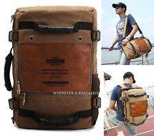 KUAKKO Vintage Men's Strong Canvas Backpack Shoulder Travel Camping bag M210