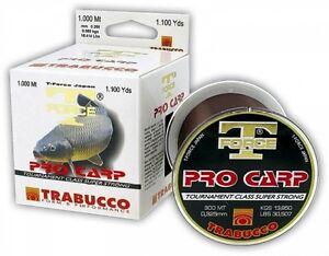 TRABUCCO T-FORCE PRO CARP 1000mt. 0.28  fishing line monofilament