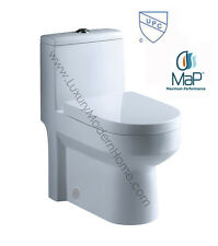 "Toilet 24.5"" 24.5 24 inch ADULT SMALL compact short tiny bathroom dual flush UPC"