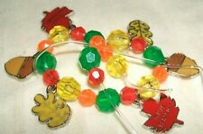 Craft Colorful Fall Leaves Elastic Bracelet 3170