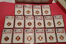 16 NGC PF69 UCAM lincoln penny collection from 1999-2011-s in storage box
