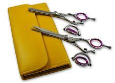"""Professional hairdressing hair cutting Scissors Salon Shears Silver Titanium5.5"""""""