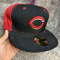New Era 59fifty Mlb Cincinnati Reds Baseball Fitted Hat 7 1/2