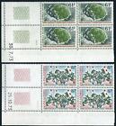 FSAT 55-56 blocks/4,MNH.Michel 83-84.Plant 1973.Azorella Selago,Acaena ascendens