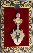 Hard Rock Cafe NEW ORLEANS 2012 Mardi Gras Fleur De Lis Mask Guitar PIN Feathers