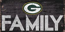 "Green Bay Packers FAMILY Football Wood Sign - NEW 12"" x 6""  Decoration Gift"