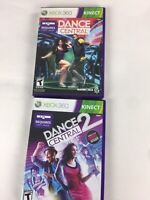 Dance central 1 and 2 bundle lot of 2 xbox 360 Complete