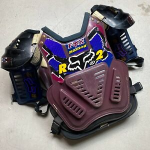 Vintage 1995 Fox Racing Roost 2 Motocross Chest Protector - axo jt mcgrath henry