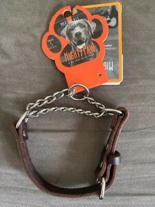 Brand new Leather Martingale dog collar - small