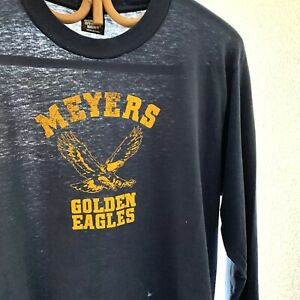 Vintage Soft Trashed Distressed Worn Meyers Eagle T Shirt Skate Surf Motorcycle
