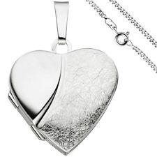 Medaillon Herz für zwei Fotos 925 Echt Silber Medallion Medalion + Kette 50 cm