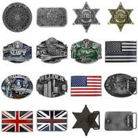Automatic Vintage Belt Buckle Leather Fashion NO Waist Strap Belt Waistband USA