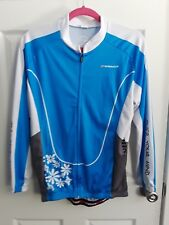 Sponeed Women's Cycling Long Sleeve Jersey and Pants - Large - Blue/White/Black