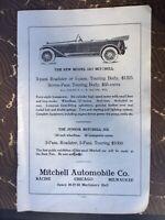 VINTAGE PRINT AD , 1917 MITCHELL AUTOMOBILE COMPANY - ORIGINAL