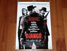 ORIGINAL MOVIE POSTER DJANGO UNCHAINED UNFOLDED ADVANCE ONE-SHEET TARANTINO