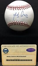 MELKY CABRERA AUTOGRAPHED BASEBALL (STEINER SPORTS AUTHENTICATED)