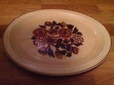 Poole Pottery thistlewood Pattern 1 Ovale Servire Piatto 34cm da 28.5cm