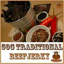 BEEF JERKY SAVOURY SNACK FOOD 50G BULK TRADITIONAL AUSTRALIAN DELICIOUS FLAVOUR