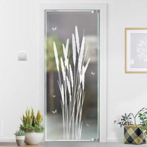 Gras Glasdekor Glastür Aufkleber Sticker Glastattoo für Tür Sandstrahloptik g410