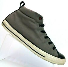 Converse Chuck Taylor All Star Gray/Black/Red Canvas Mid-top Shoe 141319F Men 11
