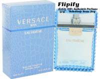 Versace Man Cologne Eau Fraiche 3.4 oz 100 ML / 6.7 oz 200 ML / 0.17 oz MINI