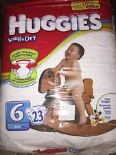 Disney Mickey Mouse Size 6 Huggies Snug and Dry Diapers  Jumbo 23 count NEW