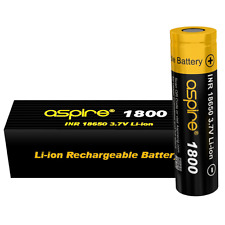 Aspire® ICR 18650 1800mAh 40A High Drain Battery | Vaping UK | 100% Authentic