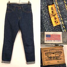 Levis LVC 606 Mens Jeans Size  26X34 Orange Tab Big E Button Fly Dark Wash Slim