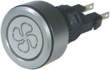 Fan On Off Light Illuminated Push Button Switch