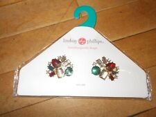 Lindsay Phillips Christina Red/rhinstones/green Interchangeable Snaps