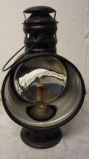 Vtg Antique Unmarked Union Driving Lamp Kerosene Black