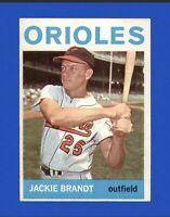 1964 Topps Jackie Brandt #399 Baseball Card - Baltimore Orioles HOF