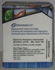 Dataproducts Brother LC75-BK Twin Pack DPCLC75B2PK Inkjet Cartridges   Black