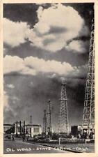 OIL WELLS State Capitol, Oklahoma City, OK 1944 Vintage Postcard