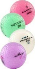 100 Mint Crystal Mix Used Golf Balls Assorted Colors + Free Tees!