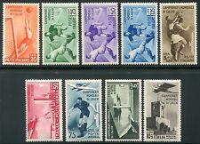 1934 Regno Italia Calcio serie 9 valori nuovi spl ** integri e centrati 2 cert.