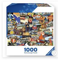 New 1000 Piece Jigsaw Puzzle Ravensburger ROAD TRIP USA 27 x 20 Landmarks Parks