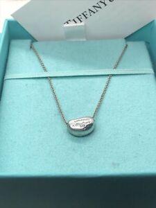 Tiffany & Co. Elsa Peretti Bean Pendant Necklace 16 Inch
