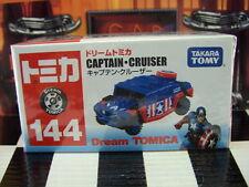 TOMICA #144 CAPTAIN AMERICA CRUISER NEW IN BOX DREAM TOMICA SERIES