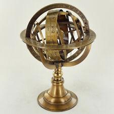 Armillary Globe Brass Nautical Sphere Earth Zodiac Horoscope Constellations