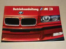 Manuale di istruzioni manuale BMW Motorsport 3er e36 m3 (e 36 M 3), stand 08/1993