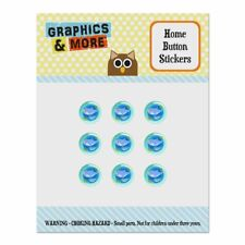 Momma Shark and Baby Swimming in Ocean Home Button Stickers Fit Apple iPhone
