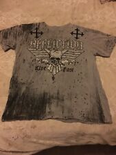 Affliction Live Fast Black/Grey Mens Shirt Size 2XL XXL EUC Nice Stylish Shirt!