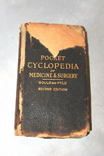 SCOTT GOULD PYLE POCKET CYCLOPEDIA MEDICINE SURGERY SECOND EDITION 1913
