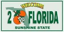 """30"""" x 60"""" Welcome to Florida License Plate Beach Towel"""
