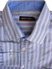 PIERRE CARDIN Shirt Mens 16.5 L White - Multi-Coloured Stripes